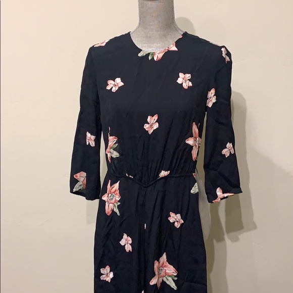 ASOS black floral jumpsuit